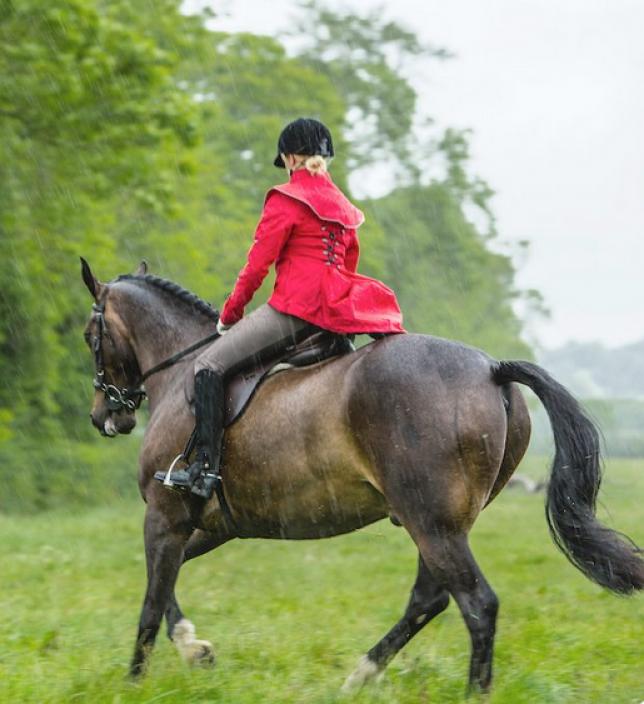 Georgia in Dublin, la mode à cheval ou sous la pluie