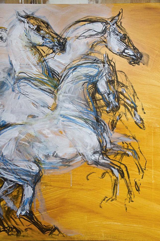Peinture Jean-Louis Sauvat Le géant magnifique