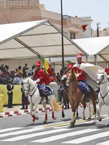Garde rouge Beauté noire du Sénégal